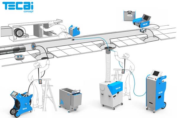 Showroom Teinnova, Robots de limpeza tecai, tegras concept da teinnova, limpeza extraçõs, limpeza filtros, gestão qai